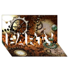Steampunk In Noble Design PARTY 3D Greeting Card (8x4)