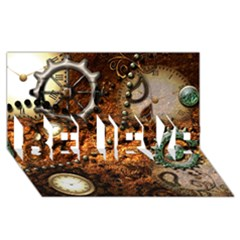 Steampunk In Noble Design Believe 3d Greeting Card (8x4)