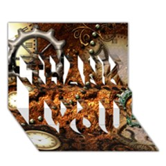 Steampunk In Noble Design THANK YOU 3D Greeting Card (7x5)