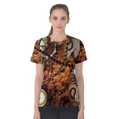 Steampunk In Noble Design Women s Cotton Tees