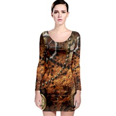 Steampunk In Noble Design Long Sleeve Bodycon Dresses