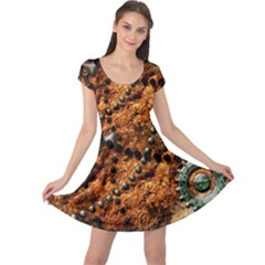 Steampunk In Noble Design Cap Sleeve Dresses