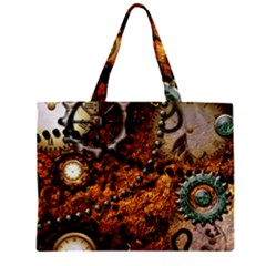 Steampunk In Noble Design Zipper Tiny Tote Bags