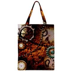Steampunk In Noble Design Zipper Classic Tote Bags