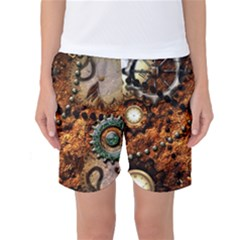 Steampunk In Noble Design Women s Basketball Shorts