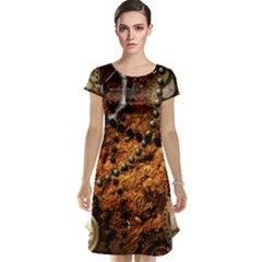 Steampunk In Noble Design Cap Sleeve Nightdresses