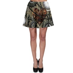 Steampunk With Clocks And Gears And Heart Skater Skirts