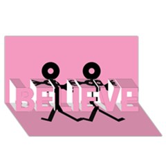 Love Women Icon BELIEVE 3D Greeting Card (8x4)