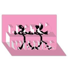 Love Women Icon Best Wish 3D Greeting Card (8x4)