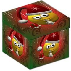 Funny Christmas Smiley Storage Stool 12