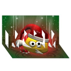Funny Christmas Smiley Mom 3d Greeting Card (8x4)