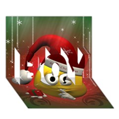 Funny Christmas Smiley Boy 3d Greeting Card (7x5)