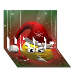 Funny Christmas Smiley HOPE 3D Greeting Card (7x5)