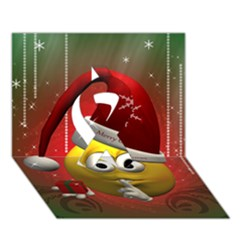 Funny Christmas Smiley Ribbon 3D Greeting Card (7x5)