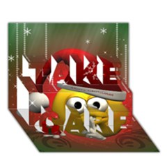 Funny Christmas Smiley Take Care 3d Greeting Card (7x5)