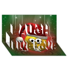 Funny Christmas Smiley Laugh Live Love 3D Greeting Card (8x4)