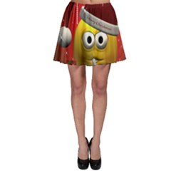 Funny Christmas Smiley Skater Skirts