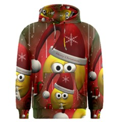 Funny Christmas Smiley Men s Pullover Hoodies