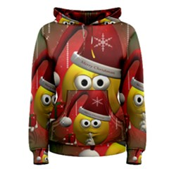 Funny Christmas Smiley Women s Pullover Hoodies