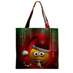 Funny Christmas Smiley Zipper Grocery Tote Bags