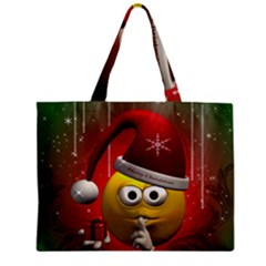 Funny Christmas Smiley Zipper Tiny Tote Bags