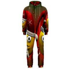 Funny Christmas Smiley Hooded Jumpsuit (Men)