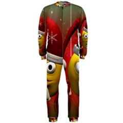 Funny Christmas Smiley OnePiece Jumpsuit (Men)