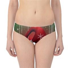 Funny Christmas Smiley Hipster Bikini Bottoms