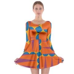Angles Long Sleeve Skater Dress