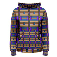 Rectangles and stripes pattern Women s Pullover Hoodie