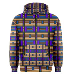 Rectangles and stripes pattern Men s Pullover Hoodie