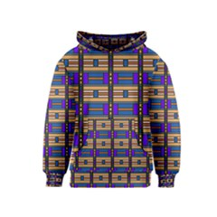 Rectangles and stripes pattern Kid s Pullover Hoodie
