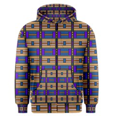 Rectangles and stripes pattern Men s Zipper Hoodie