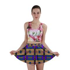 Rectangles and stripes pattern Mini Skirt