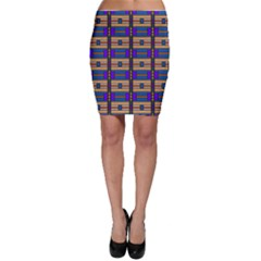 Rectangles And Stripes Pattern Bodycon Skirt