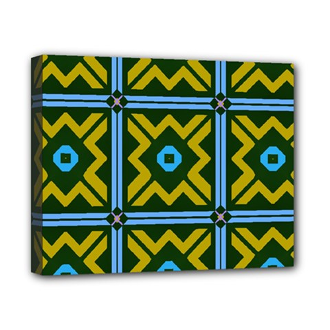 Rhombus in squares pattern Canvas 10  x 8  (Stretched)