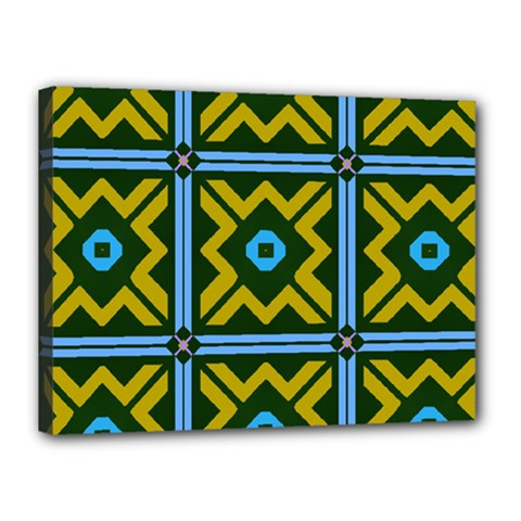 Rhombus in squares pattern Canvas 16  x 12  (Stretched)