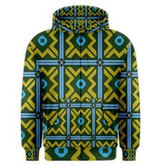 Rhombus In Squares Pattern Men s Zipper Hoodie