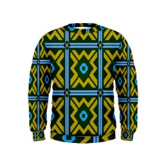 Rhombus in squares pattern  Kid s Sweatshirt