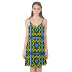 Rhombus In Squares Pattern Camis Nightgown