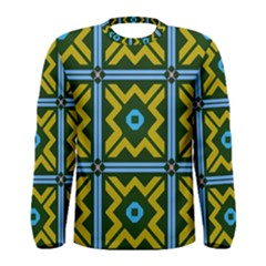 Rhombus In Squares Pattern Men Long Sleeve T Shirt