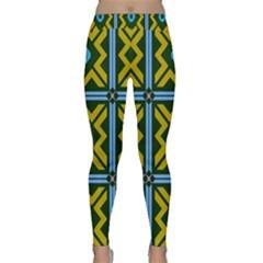 Rhombus in squares pattern Yoga Leggings