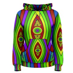 Colorful Symmetric Shapes Women s Pullover Hoodie