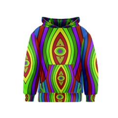 Colorful Symmetric Shapes Kid s Pullover Hoodie
