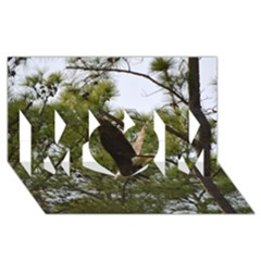 Bald Eagle 2 MOM 3D Greeting Card (8x4)