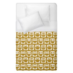 Olive And White Owl Pattern Duvet Cover Single Side (single Size)