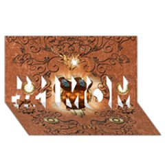 Steampunk, Funny Owl With Clicks And Gears #1 MOM 3D Greeting Cards (8x4)