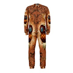 Steampunk, Funny Owl With Clicks And Gears OnePiece Jumpsuit (Kids)