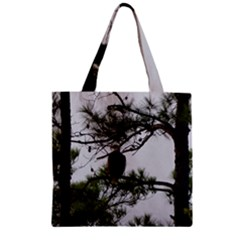 Bald Eagle 3 Zipper Grocery Tote Bags