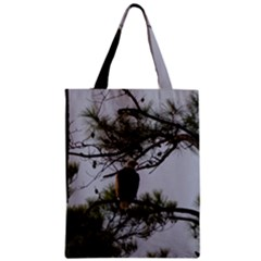 Bald Eagle 4 Zipper Classic Tote Bags